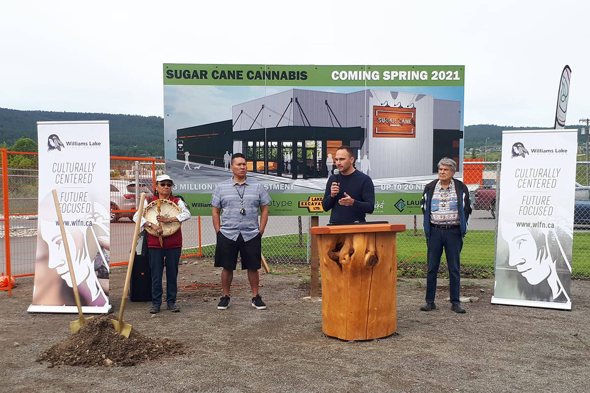 """During a groundbreaking ceremony Monday, June 22, Williams Lake First Nation Chief Willie Sellars said it has been a long time coming to see provincial and federal governments stepping out and supporting projects like Sugar Cane Cannabis. """"The magnitude of the funding agencies we've been able to pull together, the support from the province and the federal government on something that's going to be the first of its kind is very exciting."""" (Rebecca Dyok photo)"""